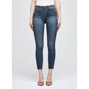 L'AGENCE Margot High Rise Skinny Jean dark vintage